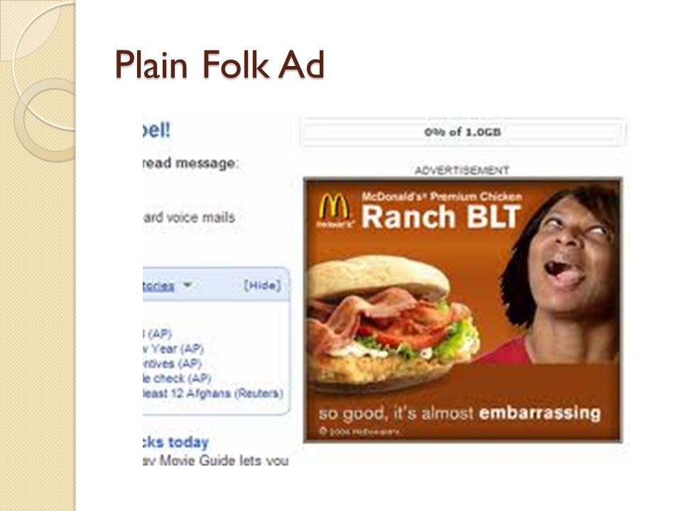 Plain Folk Political Ad…