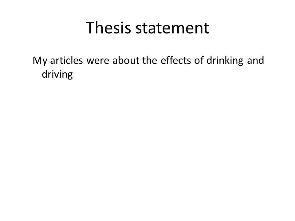 drunk driving research proposal