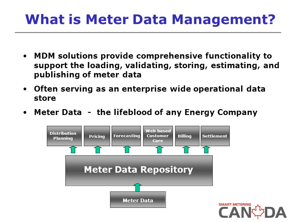 What is Meter Data Management.