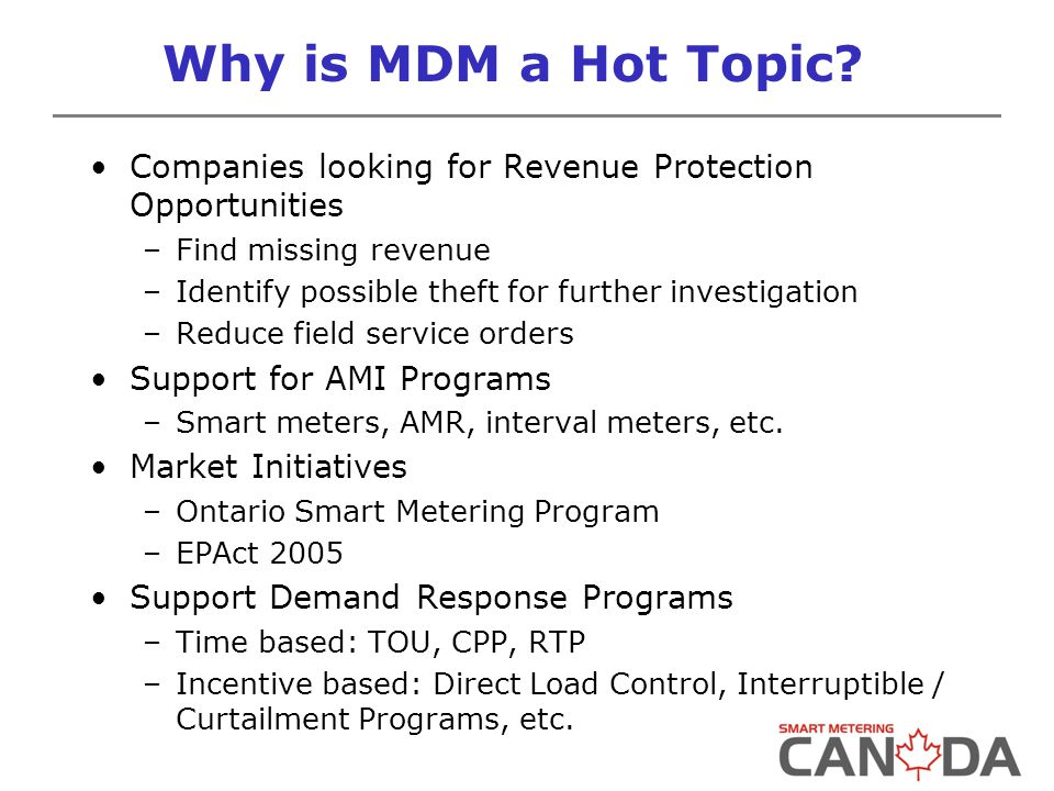 Why is MDM a Hot Topic.