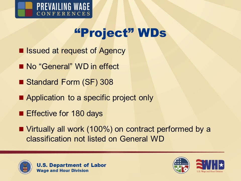 Us Department Of Labor Wage And Hour Division Davis Bacon Wage