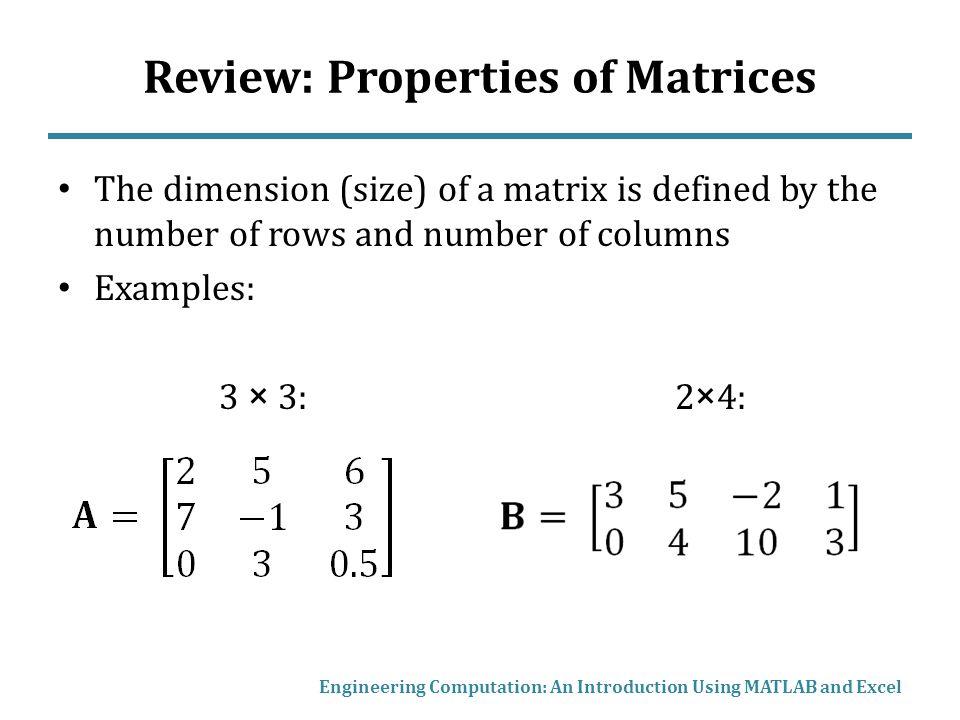 Chapter 7 Matrix Mathematics Matrix Operations Copyright