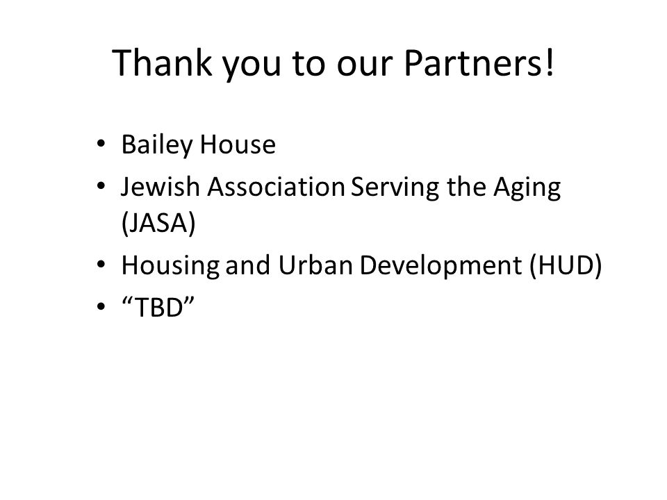 Thank you to our Partners.