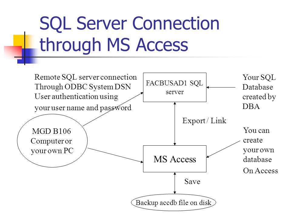 1 Client/Server Database Tutorial  SQL Server Connection