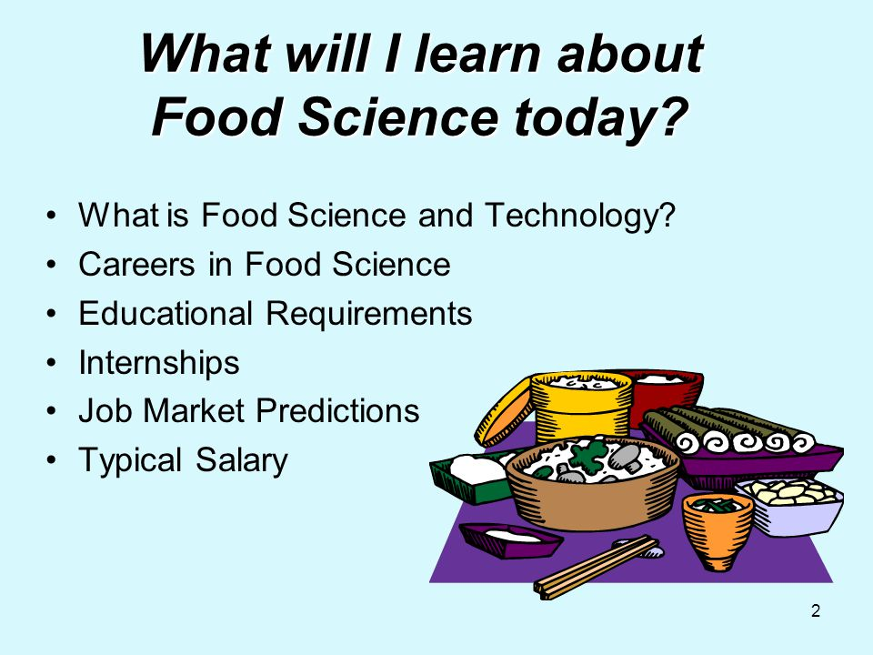 1 Food Science Technology Presentation Prepared By Alice F Mullis