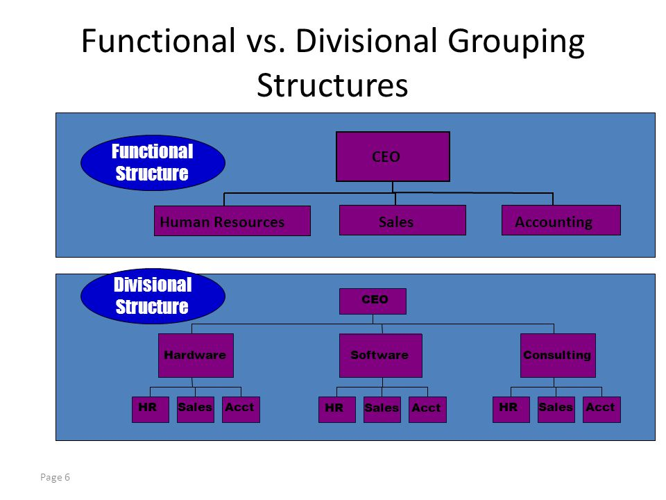 functional vs matrix organizational structure