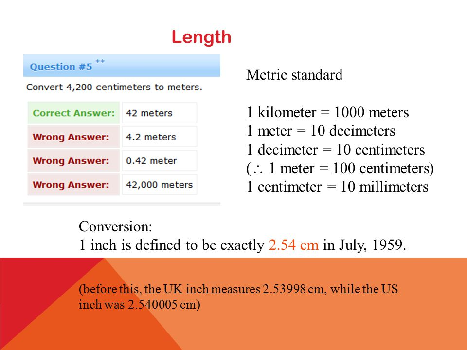Length American Standard 1 Mile 1760 Yards 5280 Feet Yard