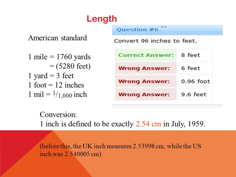 UNIT 2 REVIEW CUSTOMARY LENGTH 12 Inches In 1 Foot Ft 36