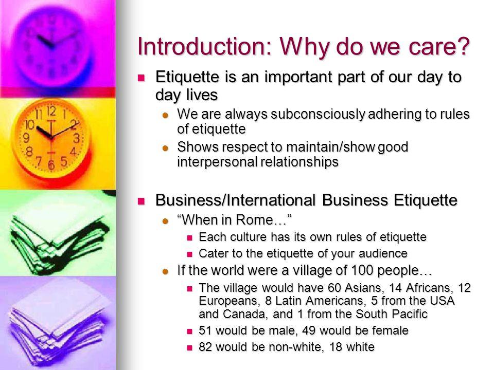 Business etiquette agenda introduction introduction business 3 introduction reheart Image collections
