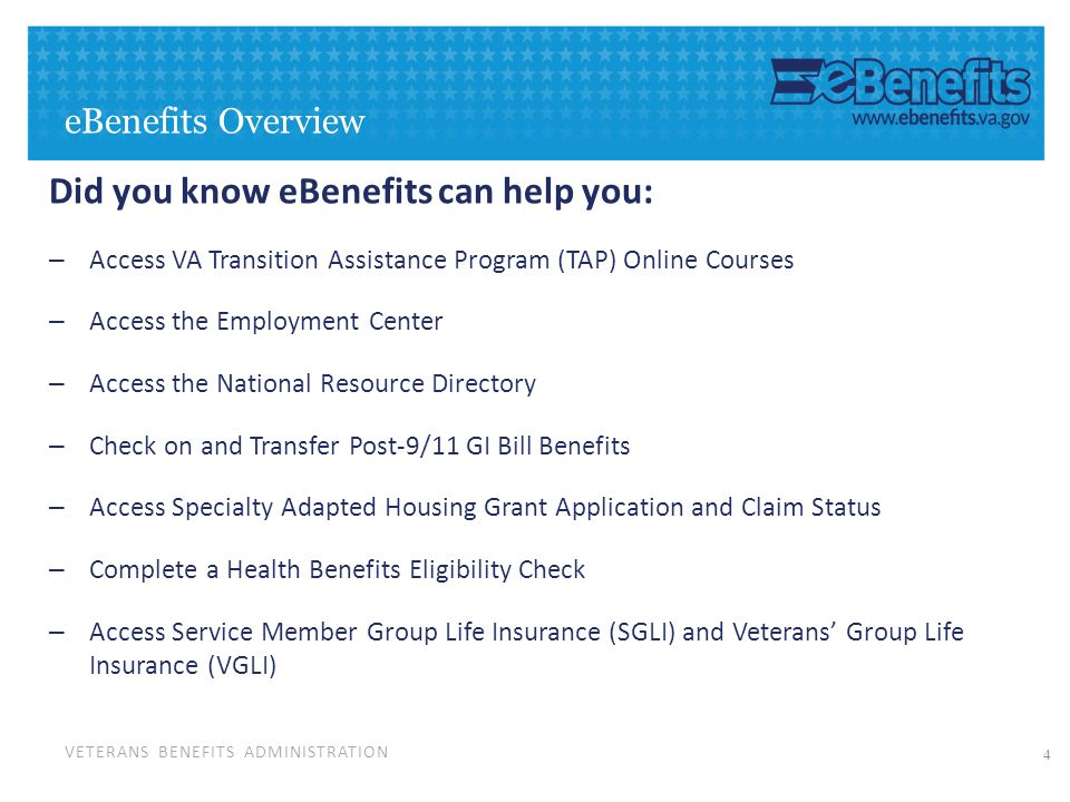 veterans benefits administration june 10 2014 ebenefits and