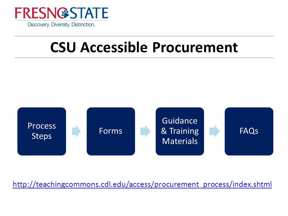 Accessible Procurement Tom Siechert California State
