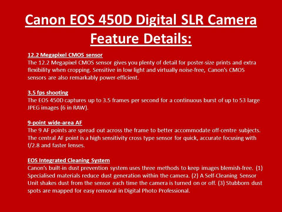 Canon EOS 450D Digital SLR Camera By Rhys Spriggs  - ppt