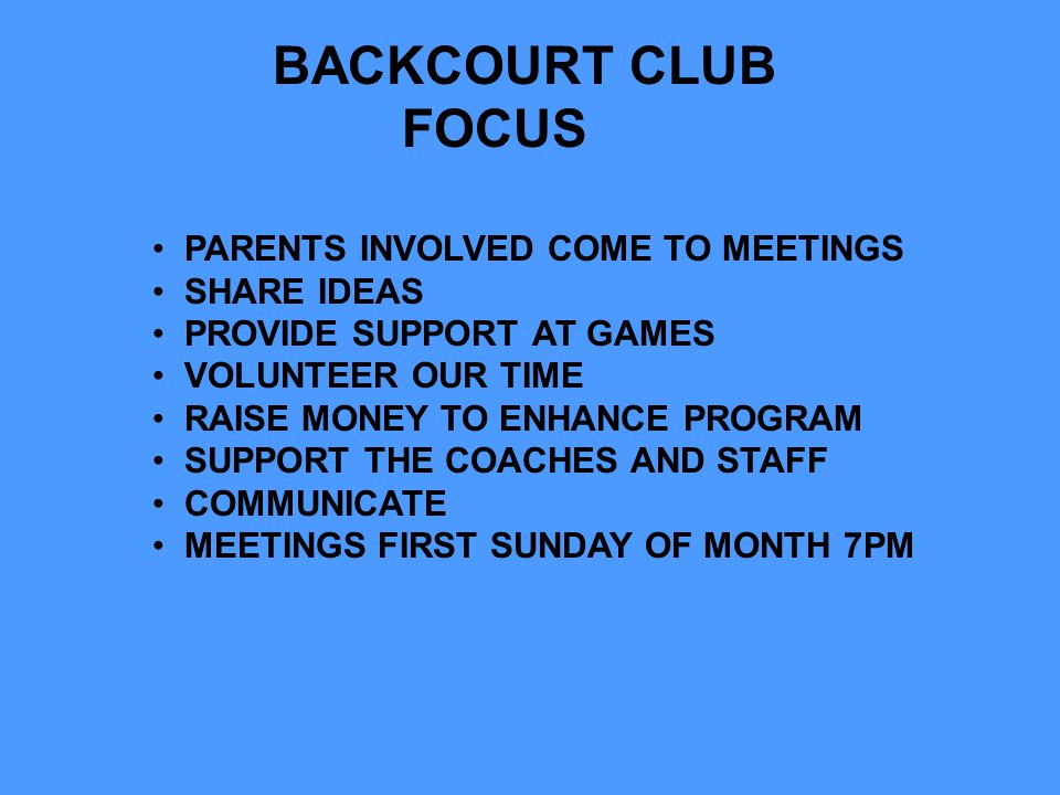 eastview girls basketball backcourt club boosters backcourt club