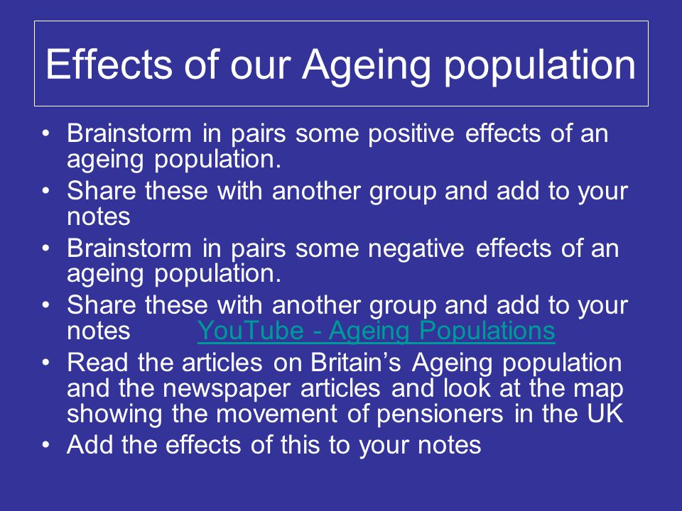 what are the effects of an ageing population