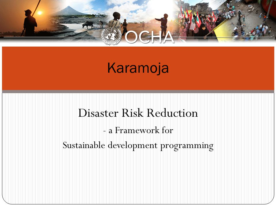 Disaster Risk Reduction - a Framework for Sustainable development programming Karamoja