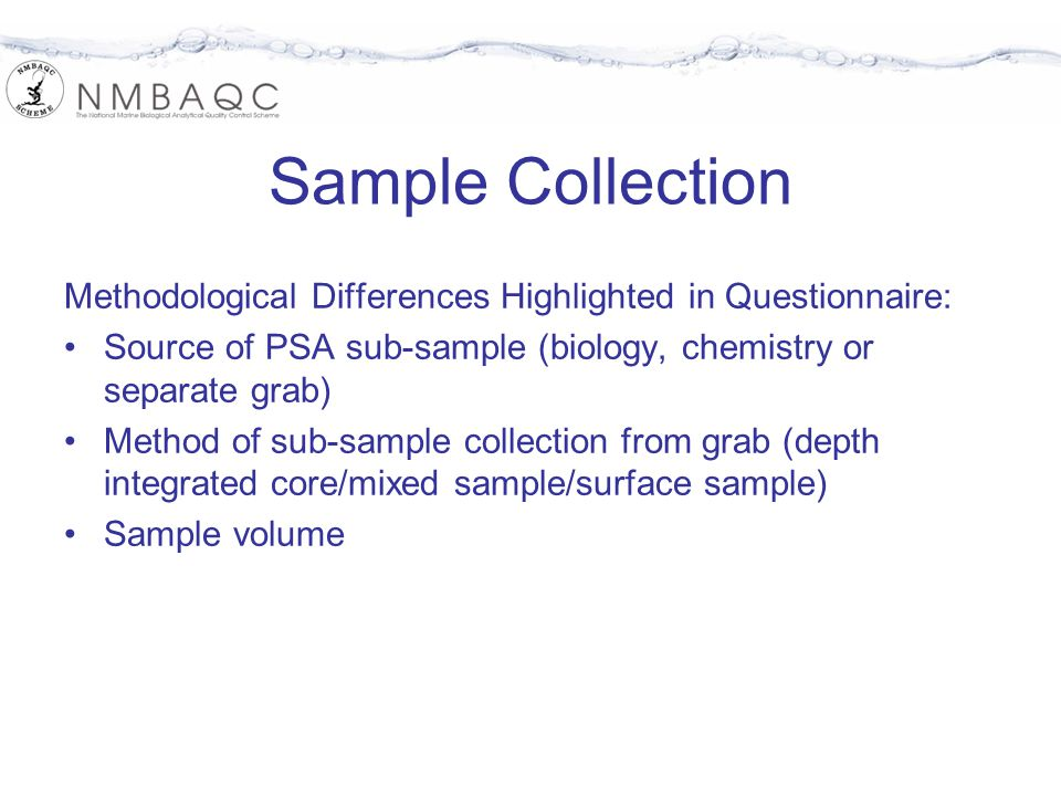 nmbaqc scheme psa for supporting biological analysis questionnaire