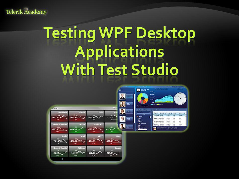 Desktop and Mobile Testing Miroslav Shtilianov QA Engineer Automated