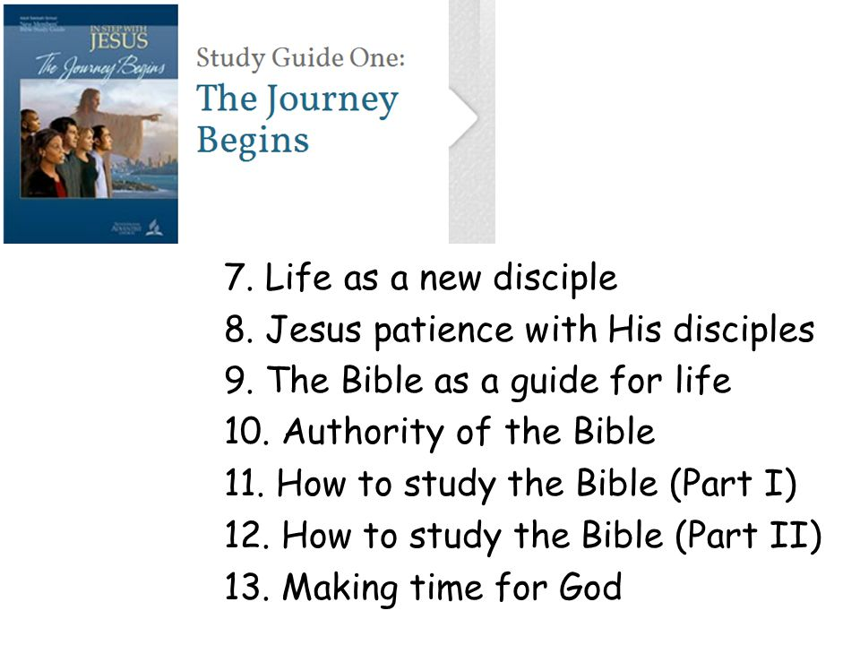 Adult Sabbath School New Members' Bible Study Guide In Step With