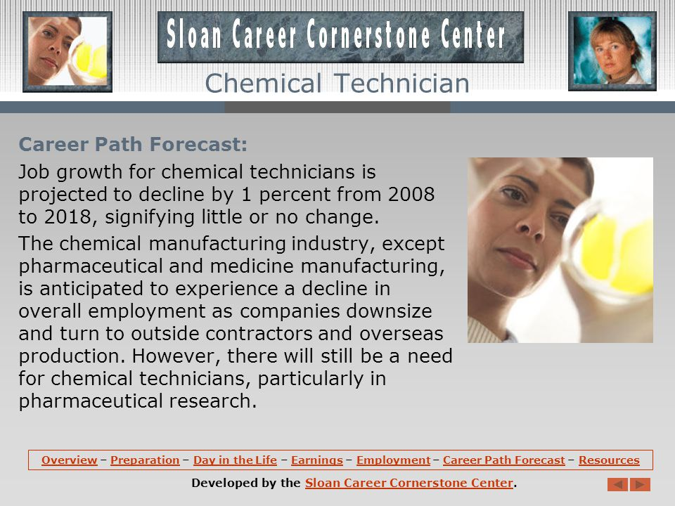 Employment: Chemical technicians hold about 66,100 jobs in the United States.