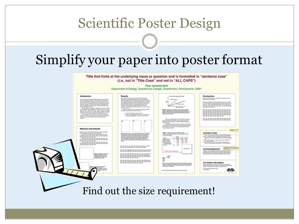 CAROLYN R  AHLERS-SCHMIDT, PH D  Scientific Poster Design
