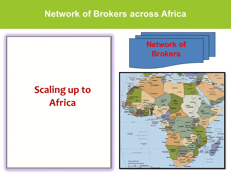 Network of Brokers across Africa Scaling up to Africa Network of Brokers