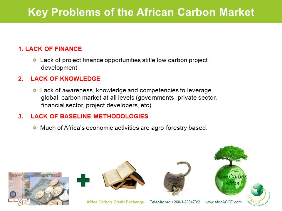 Key Problems of the African Carbon Market 1.