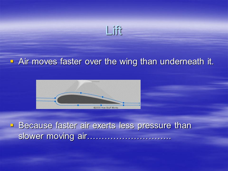 Lift  How does an airplane create lift  We can look to our fine feathered friends for the answer