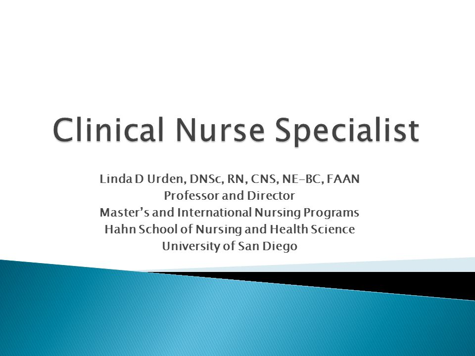 Clinical Nurse Specialist Programs >> Linda D Urden Dnsc Rn Cns Ne Bc Faan Professor And Director