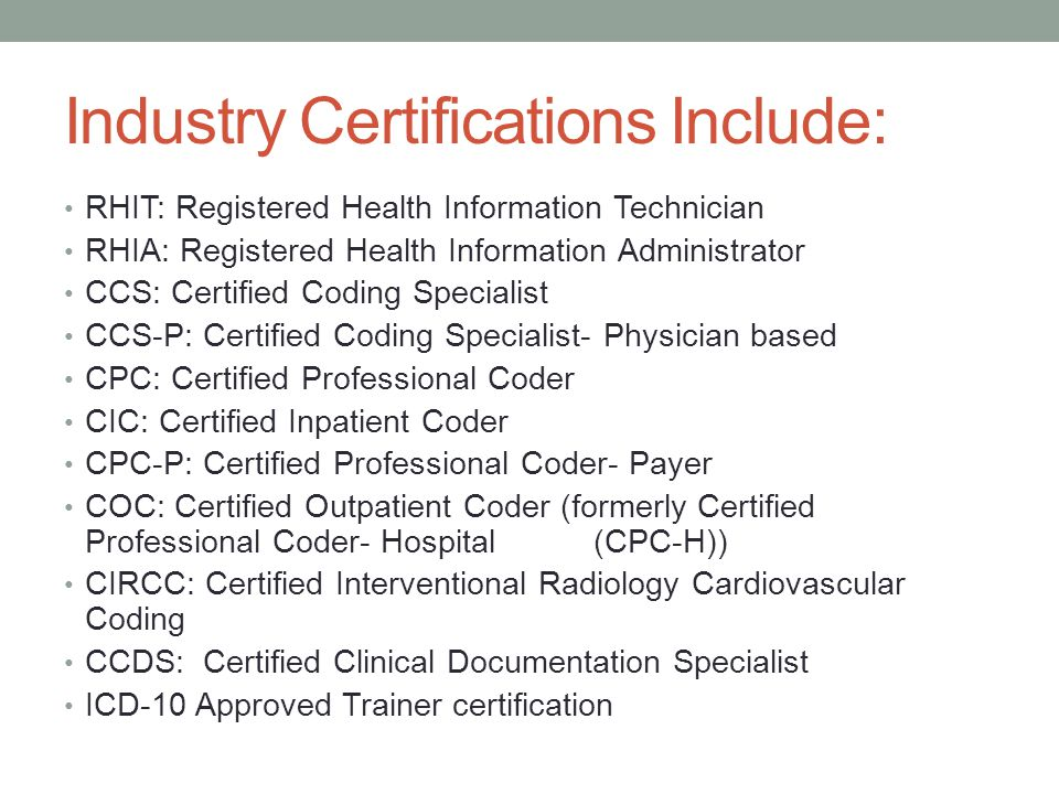 Professional Success In Health Information Management Coding Focus