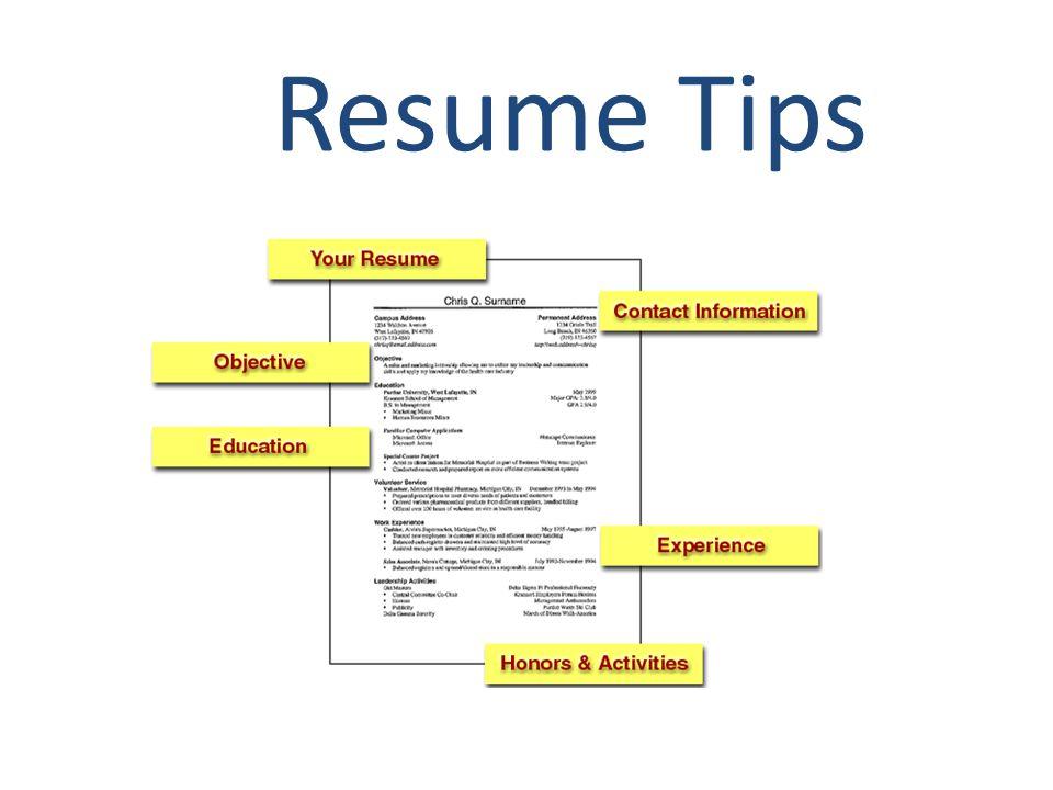 1 resume tips