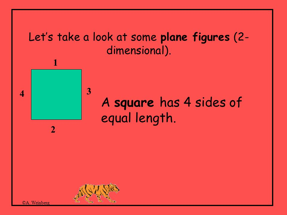 ©A. Weinberg Let's take a look at some plane figures (2- dimensional).