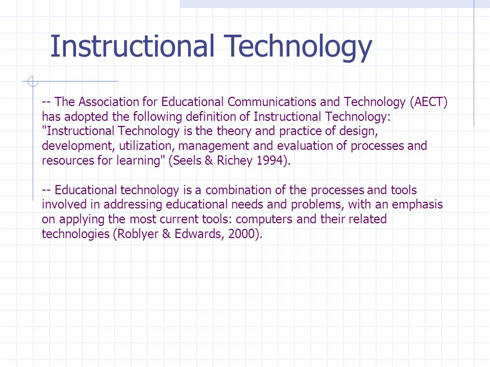 The Association For Educational Communications And Technology Aect