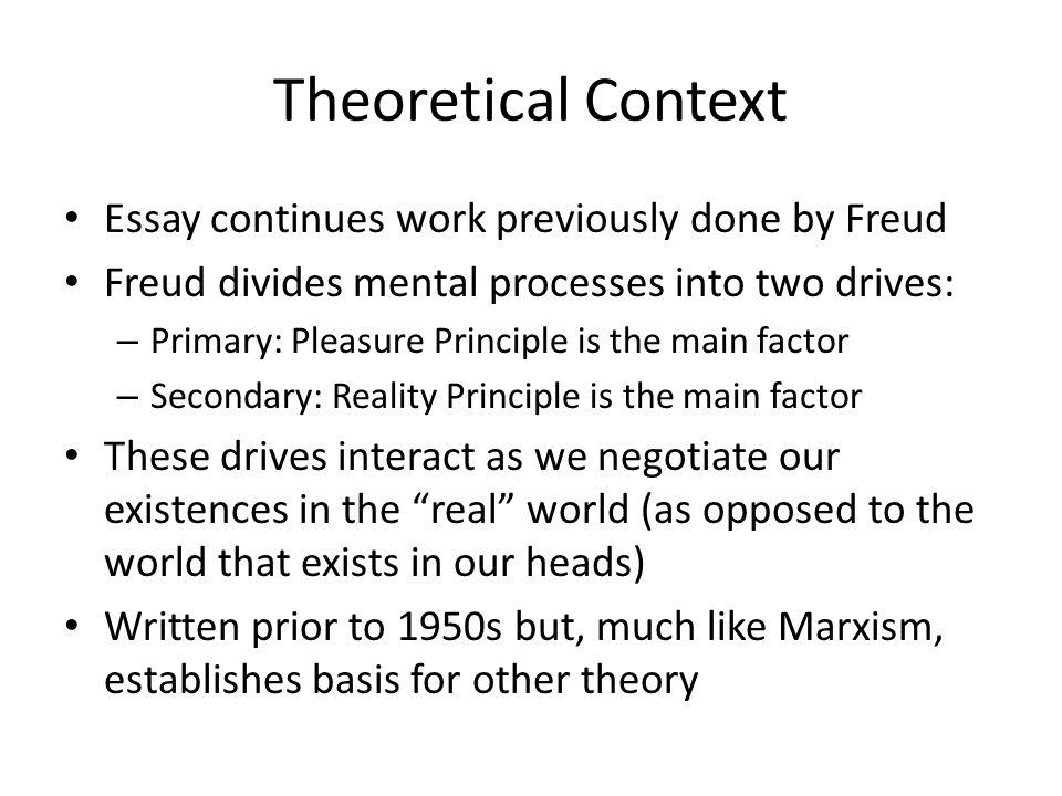 Freud Two Principles Of Mental Functioning