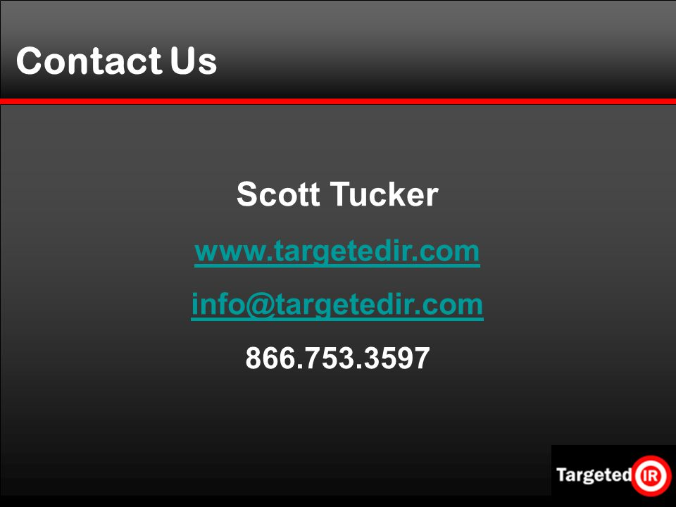 Scott Tucker Contact Us
