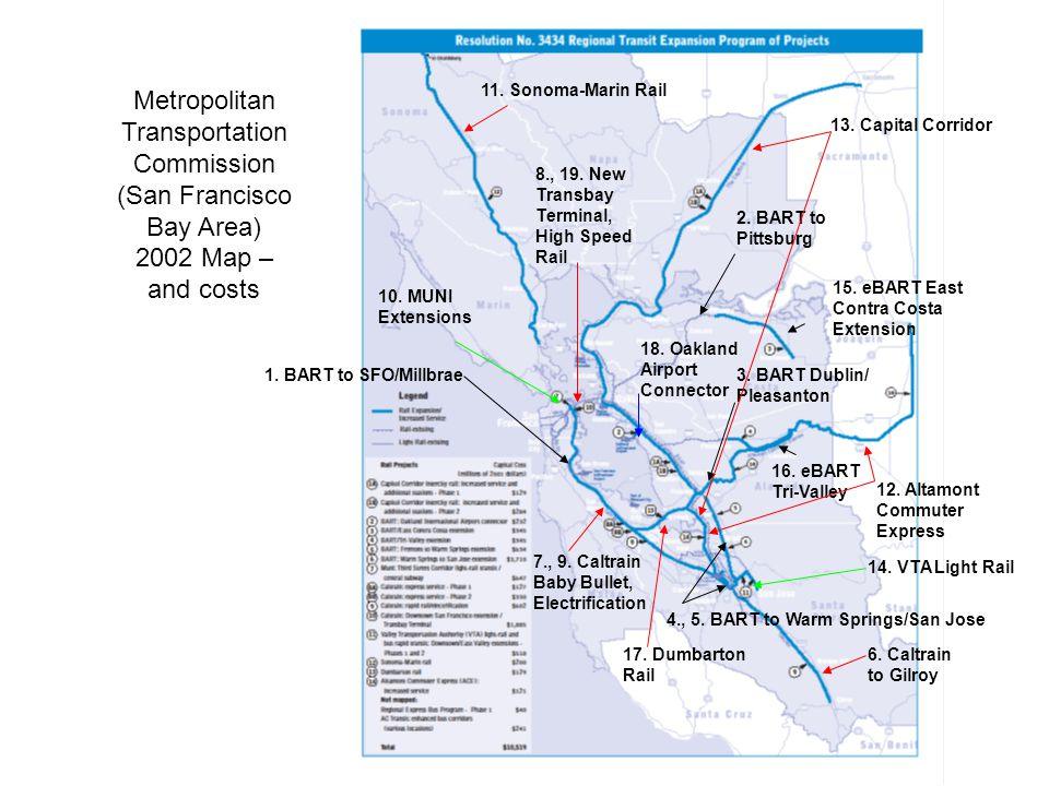 SAN FRANCISCO BAY AREA RAIL EXPANSION PROJECTS – PROMISES AND ...