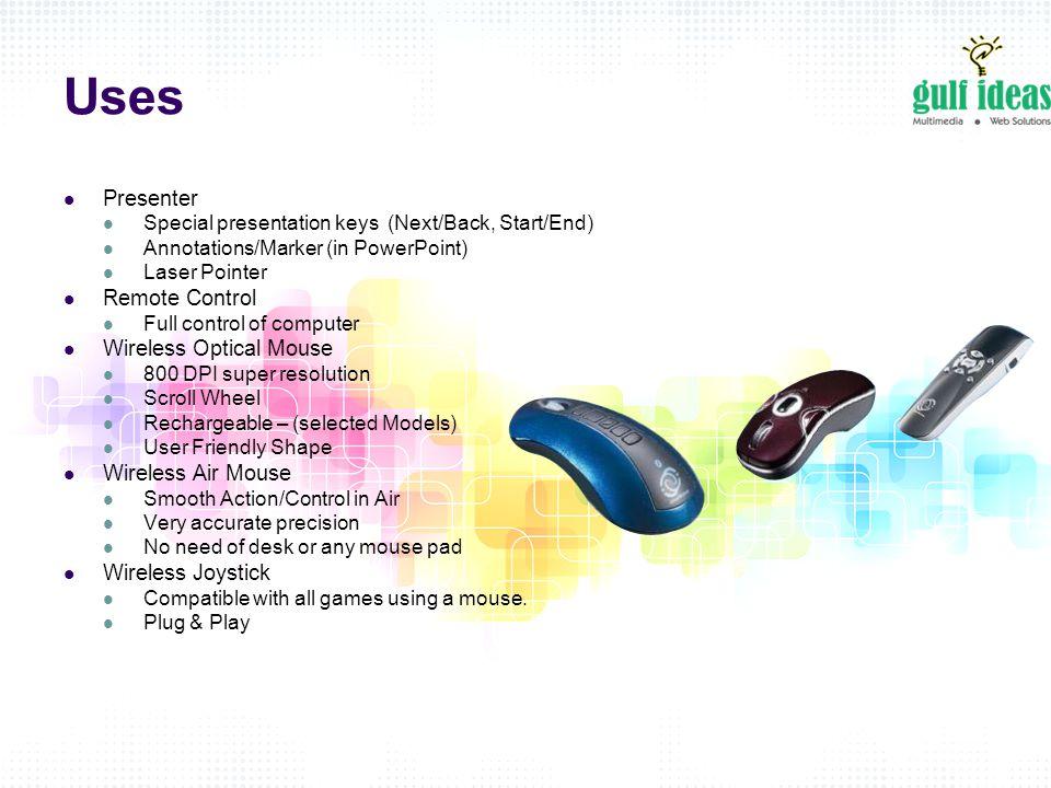 Gulf Ideas FZ LLC New Products  Introduction An air remote