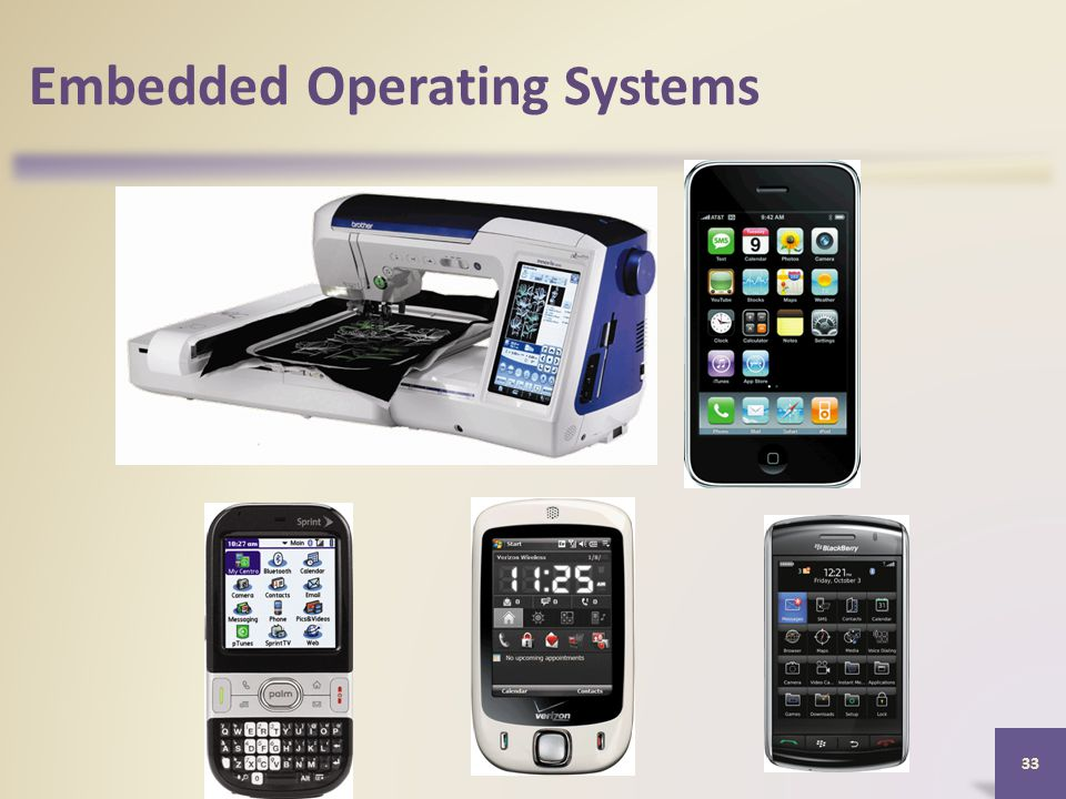 Embedded Operating Systems 33