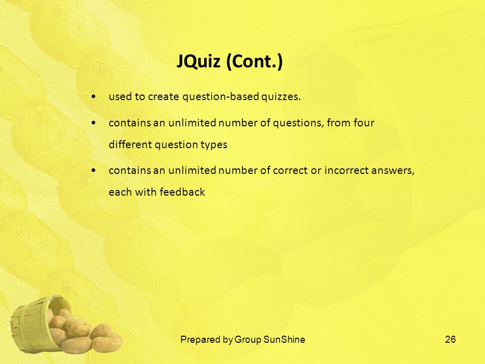 used to create question-based quizzes.