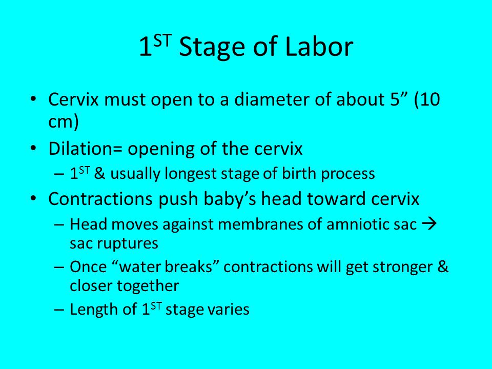 STAGES OF LABOR, CONTRACEPTION, AND CONCERNS WARNING: Maturity and