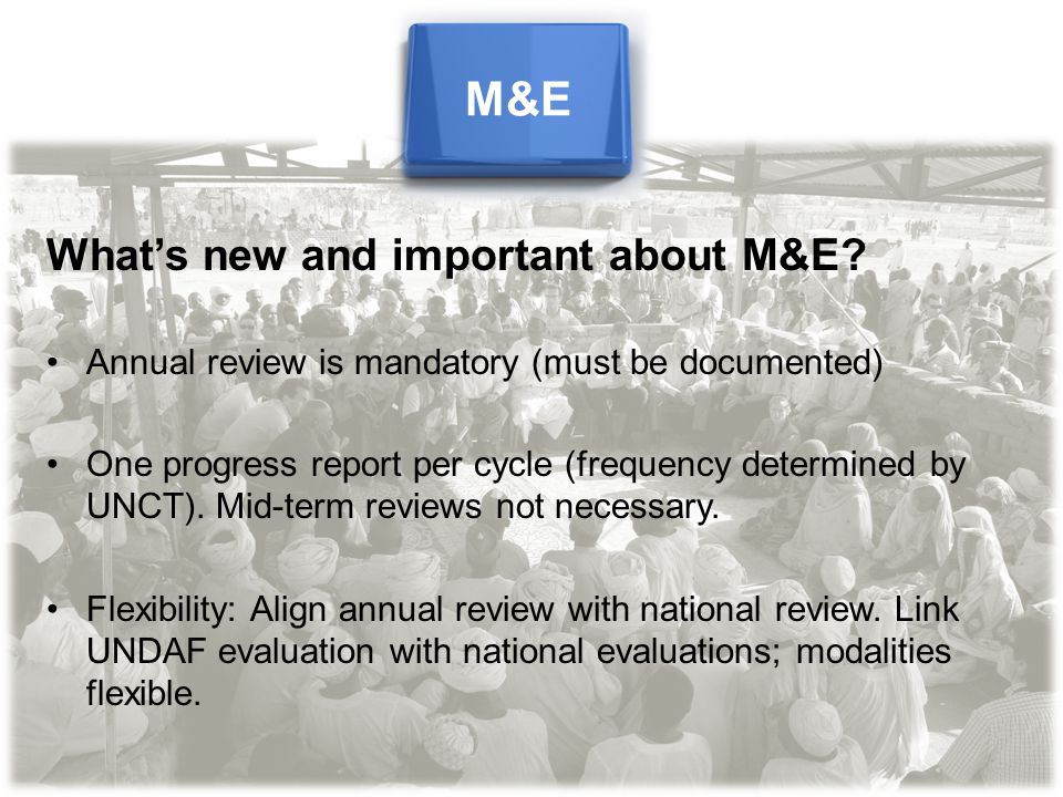 What's new and important about M&E.