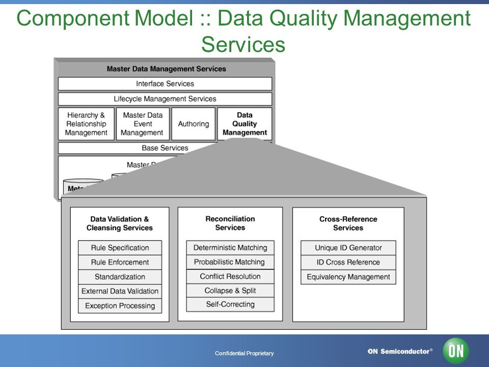 Confidential Proprietary Component Model :: Data Quality Management Services
