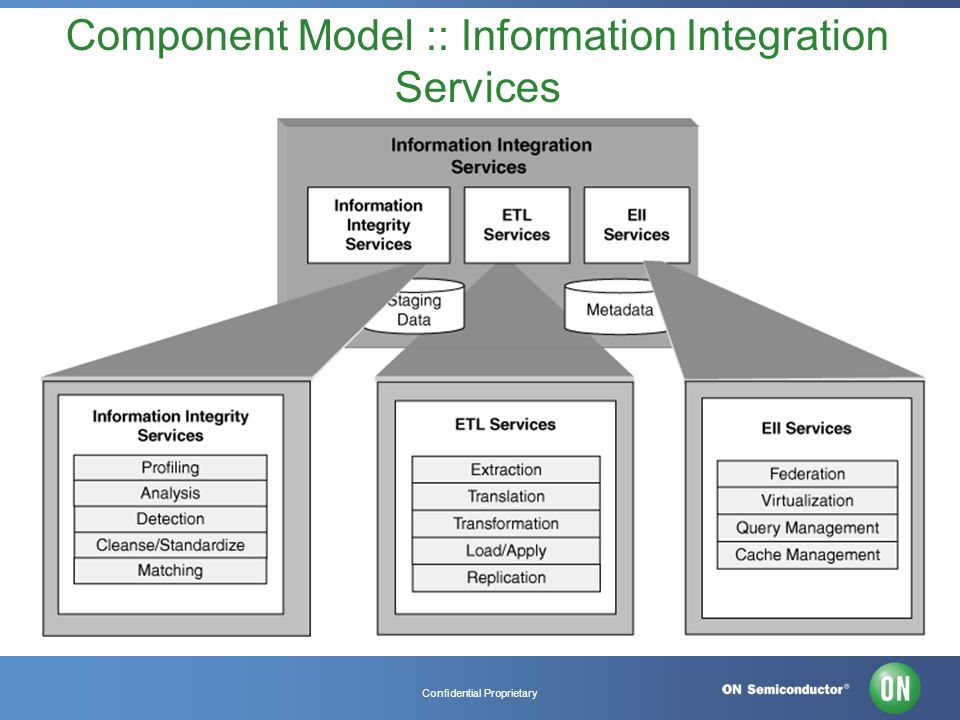 Confidential Proprietary Component Model :: Information Integration Services