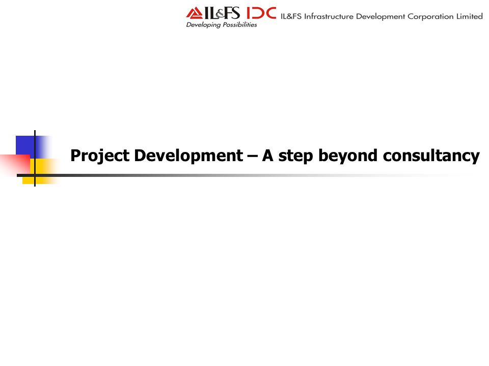 Project Development – A step beyond consultancy