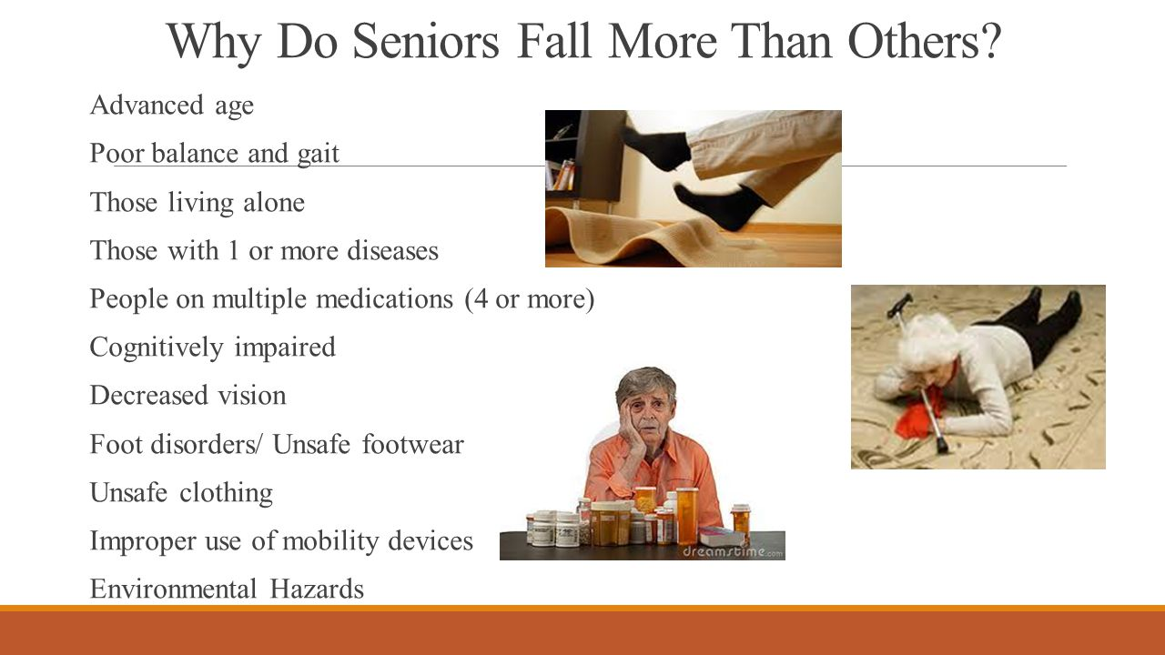 Why Do Seniors Fall More Than Others.