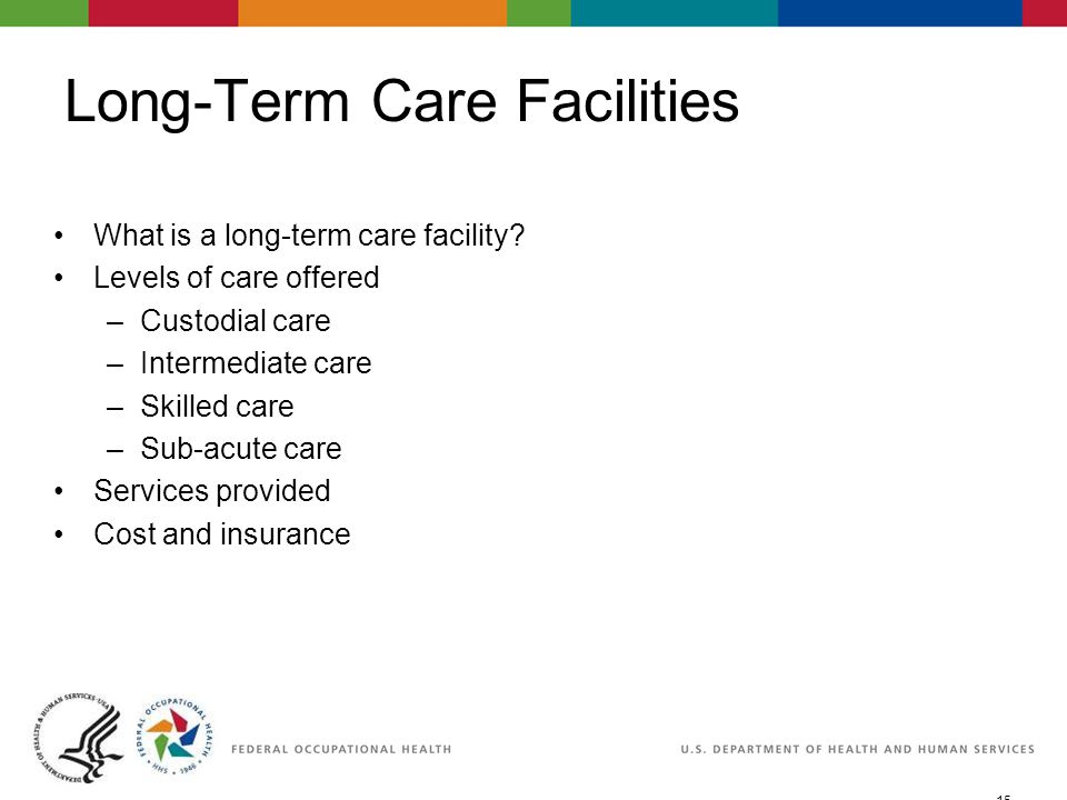 15 06/29/2007 2:30pmeSlide - P WorkLife4You Long-Term Care Facilities What is a long-term care facility.