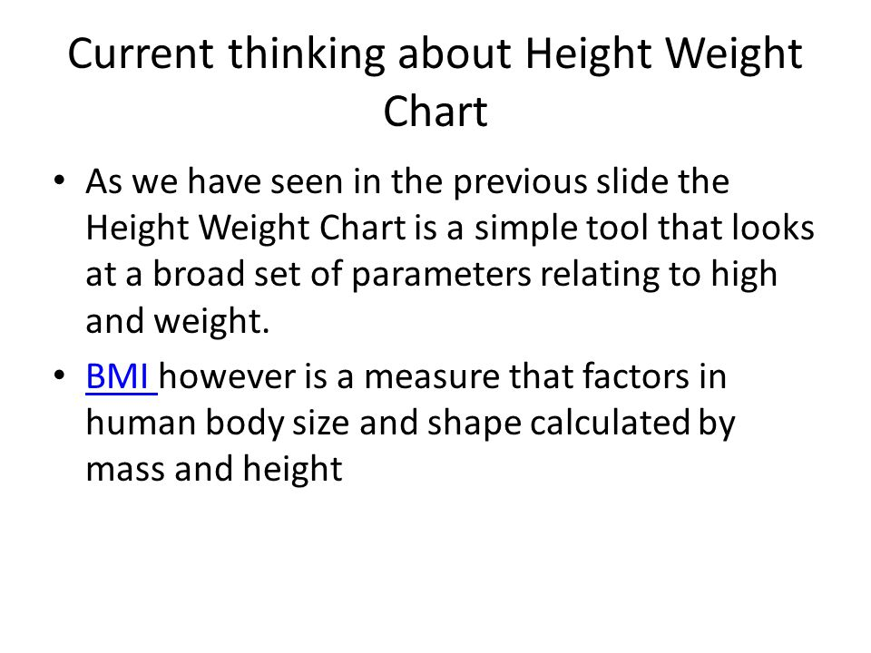 Height Weight Chart Is Bmi Reliable As A Measure Of Obesity By