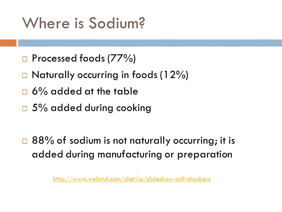 Where is Sodium.