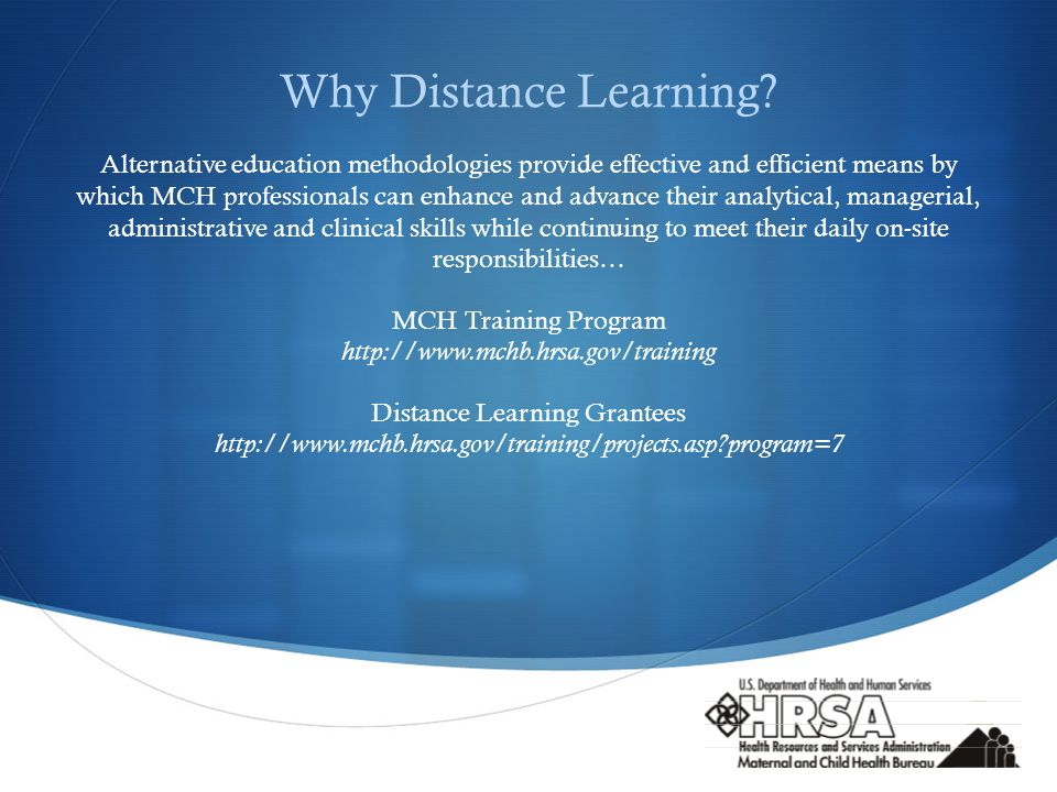  Why Distance Learning.