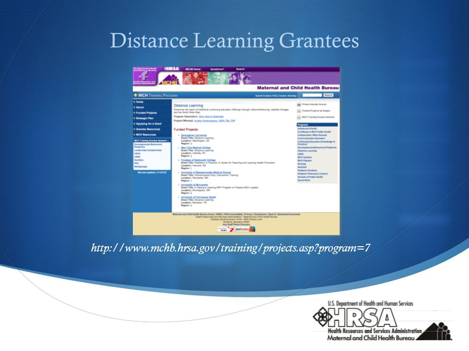  Distance Learning Grantees   program=7