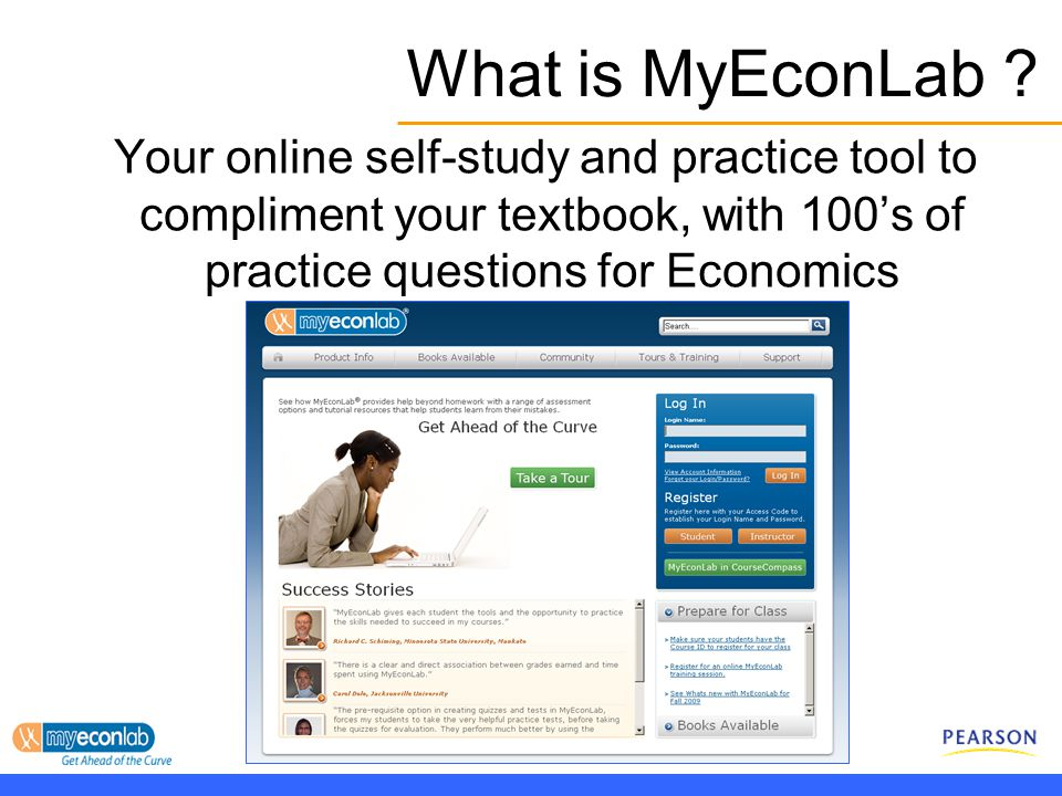 MyEconLab Getting Started With MyEconLab What Is MyEconLab
